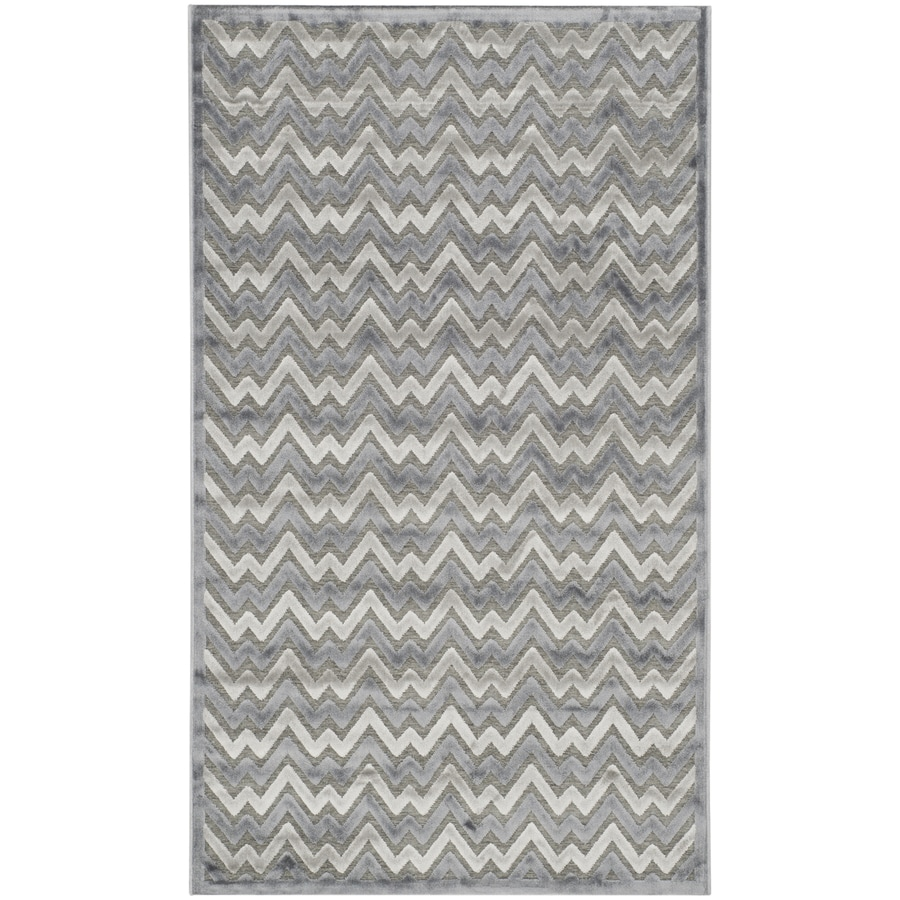 Safavieh Paradise Aika Blue/Gray Indoor Distressed Throw Rug (Common: 3 x 5; Actual: 3-ft W x 5-ft L)