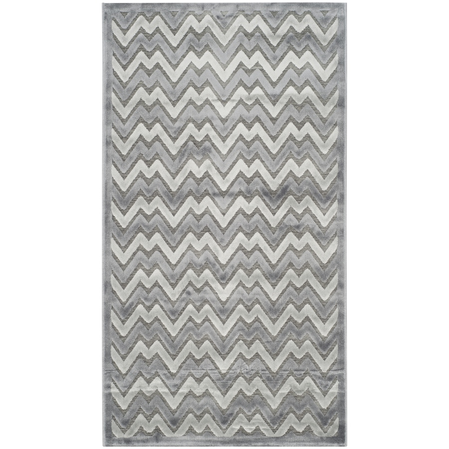 Safavieh Paradise Aika Blue/Gray Rectangular Indoor Machine-made Distressed Area Rug (Common: 4 x 6; Actual: 4-ft W x 6-ft L)