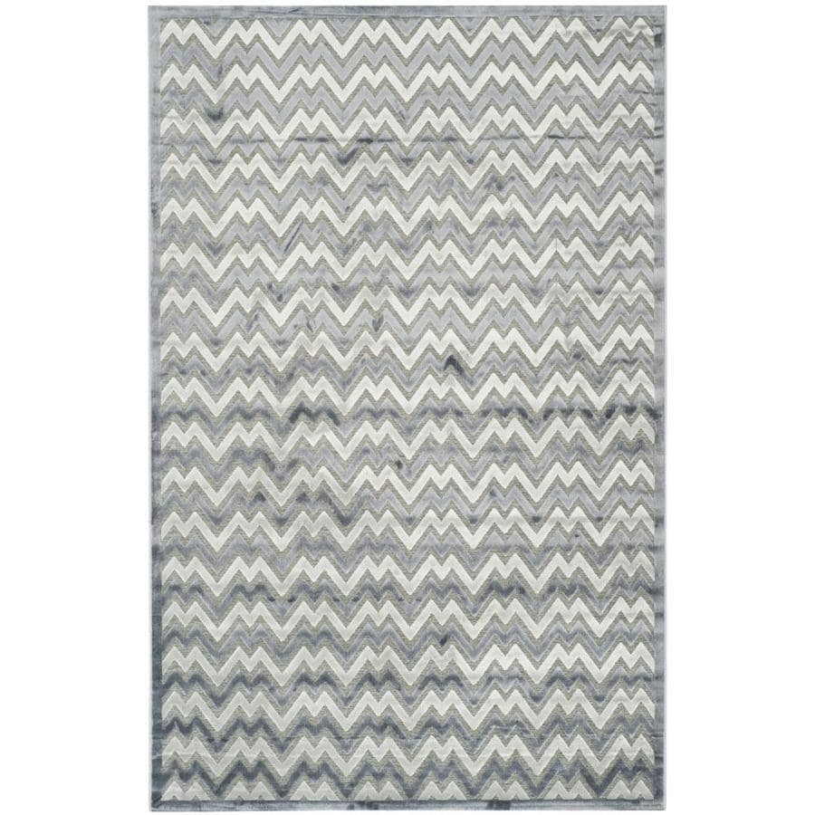 Safavieh Paradise Blue and Gray Rectangular Indoor Machine-Made Distressed Area Rug (Common: 5 x 7; Actual: 5.083-ft W x 7.5-ft L)