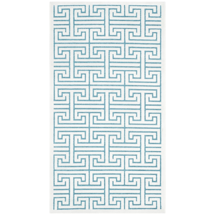 Safavieh Paradise Ainsley Ivory/Turquoise Indoor Distressed Throw Rug (Common: 2 x 4; Actual: 2.25-ft W x 4-ft L)