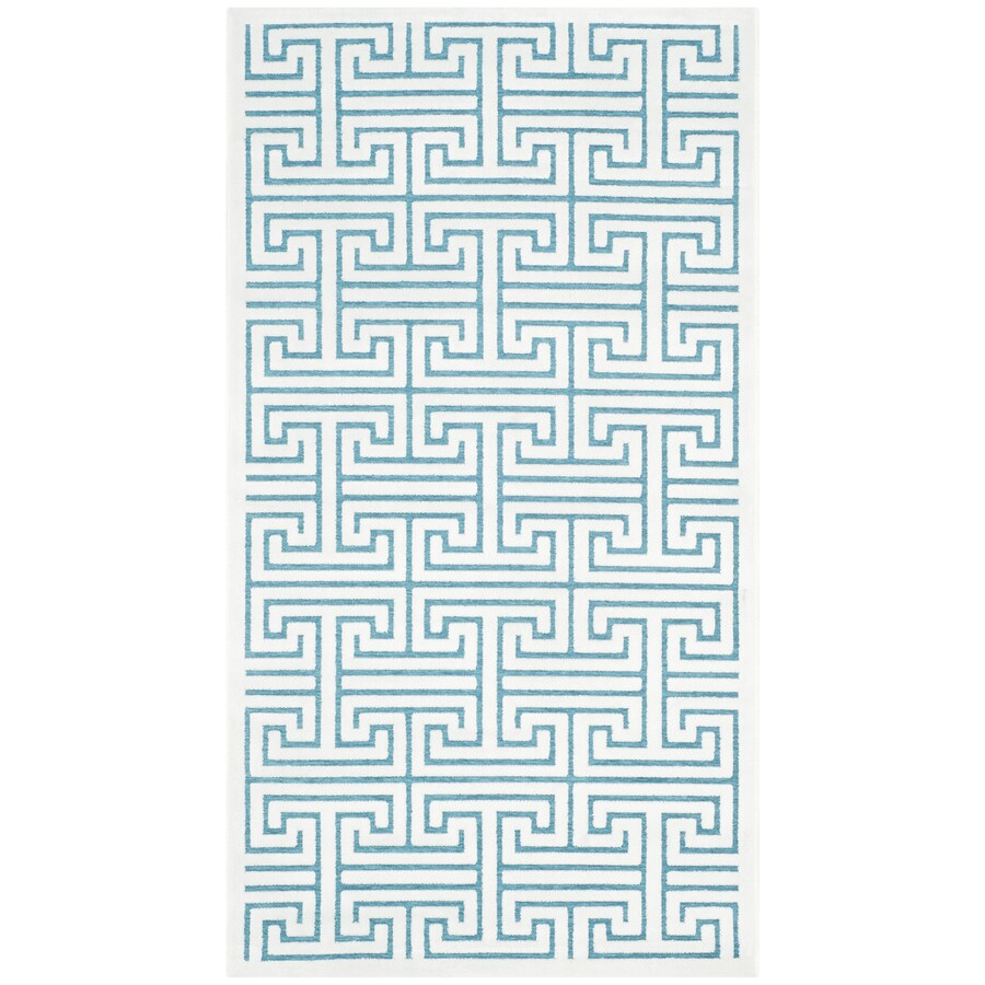 Safavieh Paradise Ainsley Ivory/Turquoise Indoor Distressed Area Rug (Common: 4 x 6; Actual: 4-ft W x 6-ft L)