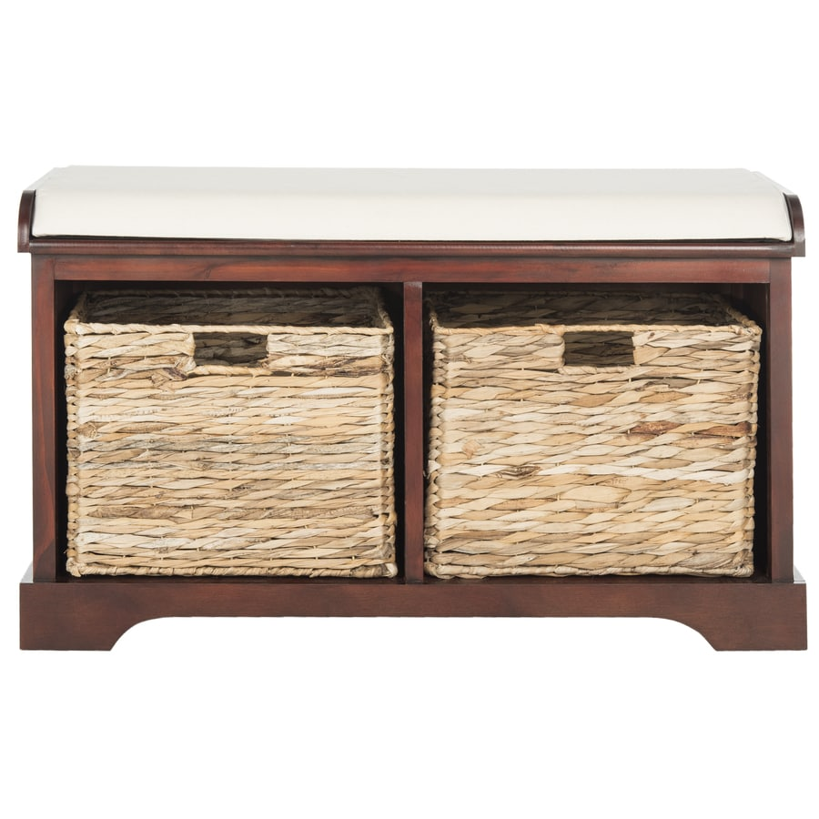 Shop Safavieh Freddy Contemporary Cherry Storage Bench At