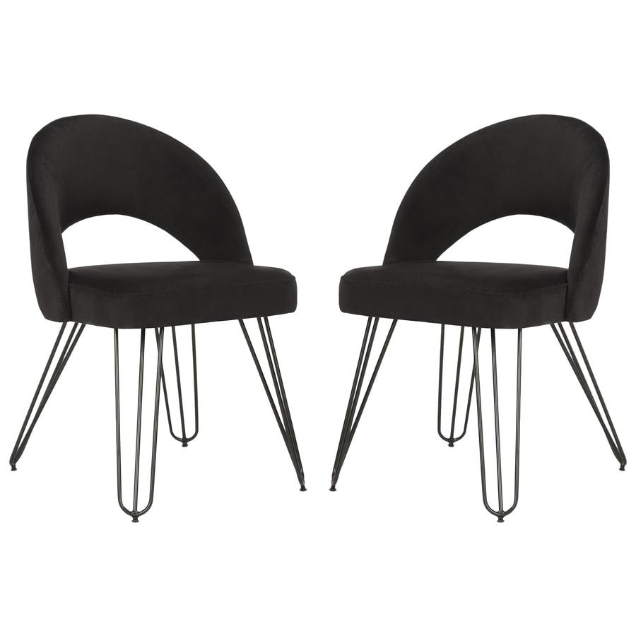 Safavieh Set Of 2 Jora Contemporary Black Side Chairs