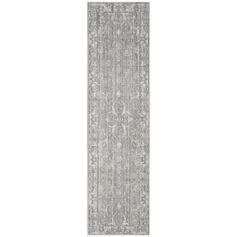 Safavieh Valencia Mauve/Cream Rectangular Indoor Machine-Made Runner