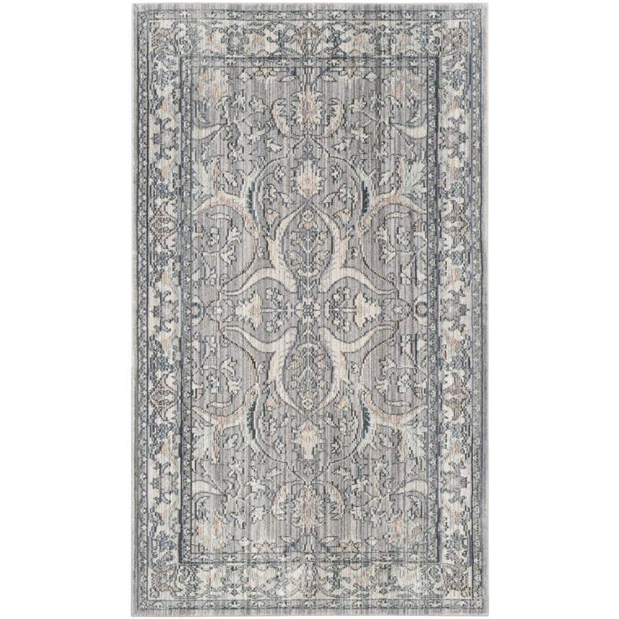 Safavieh Valencia Jiles Mauve/Cream Rectangular Indoor Machine-made Distressed Area Rug (Common: 4 x 6; Actual: 4-ft W x 6-ft L)