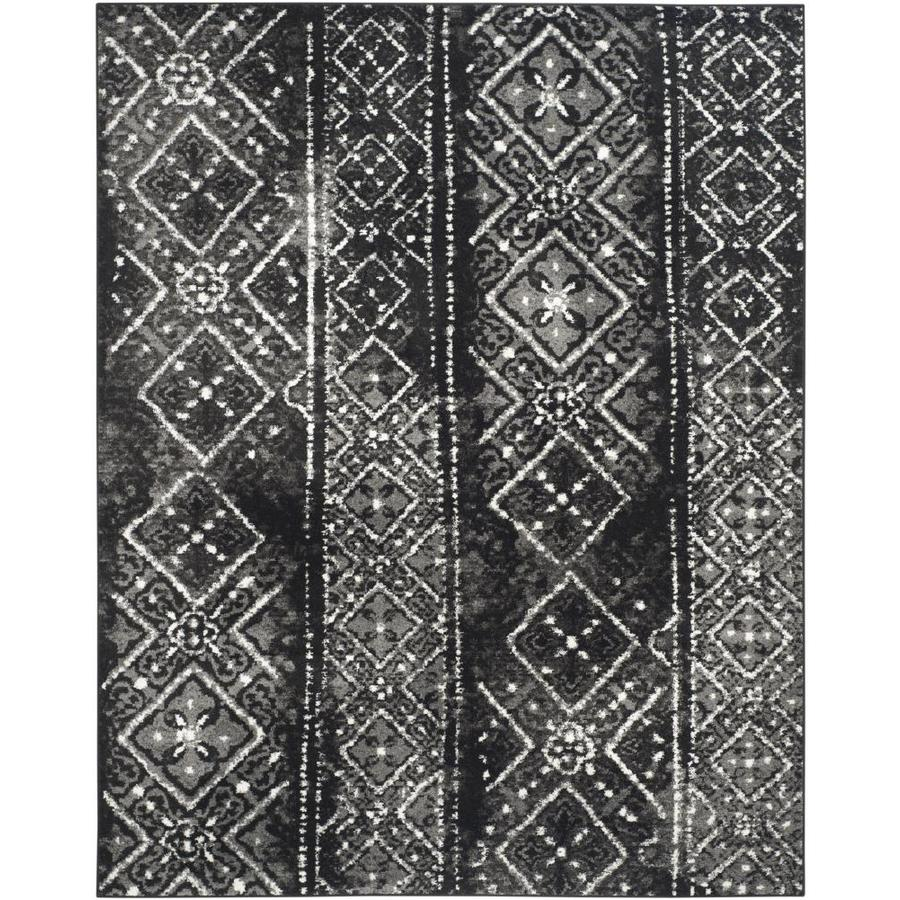 Safavieh Adirondack Black/Silver Rectangular Indoor Machine-Made Lodge Area Rug (Common: 8 x 10; Actual: 8-ft W x 10-ft L)