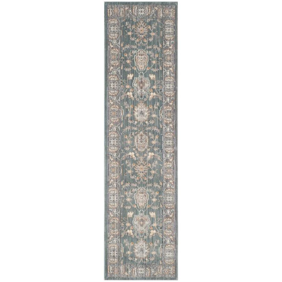 Safavieh Valencia Asher Alpine/Mauve Rectangular Indoor Machine-made Distressed Runner (Common: 2 x 8; Actual: 2.25-ft W x 8-ft L)