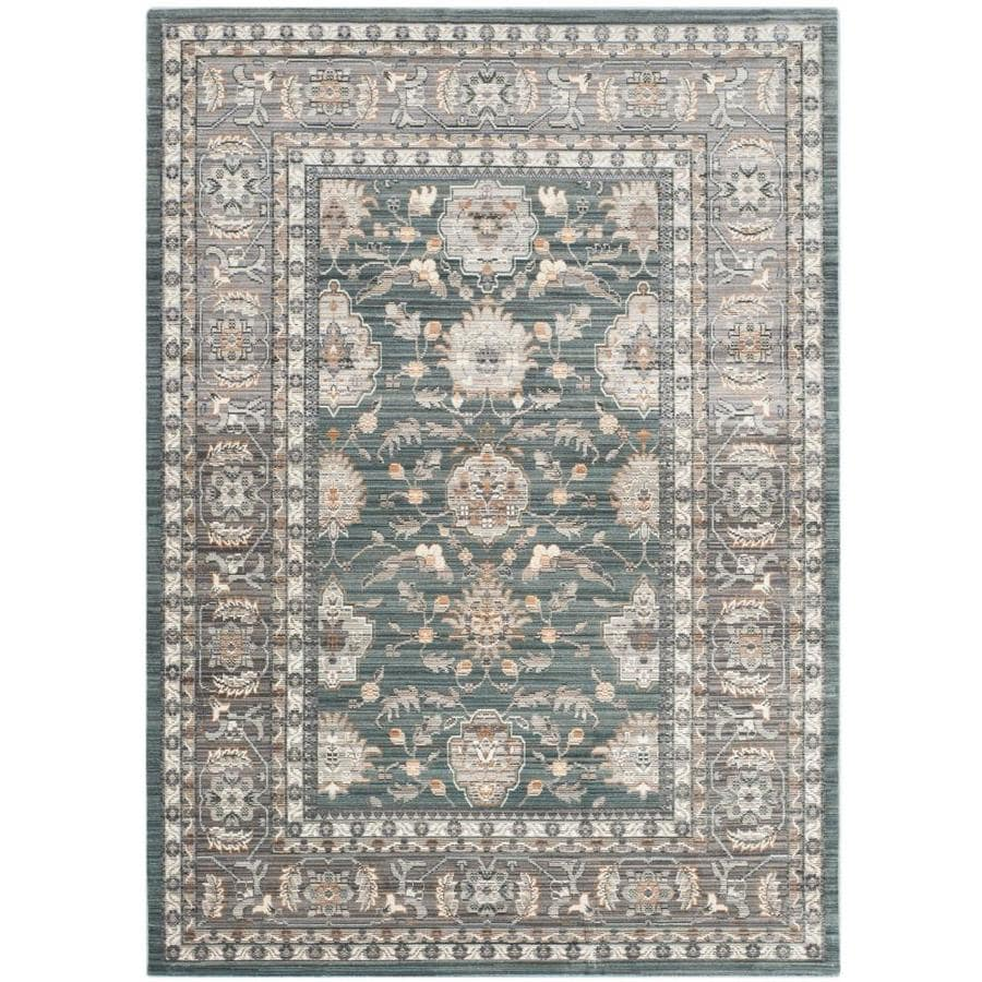 Safavieh Valencia Asher Alpine/Mauve Rectangular Indoor Machine-made Distressed Area Rug (Common: 4 x 6; Actual: 4-ft W x 6-ft L)