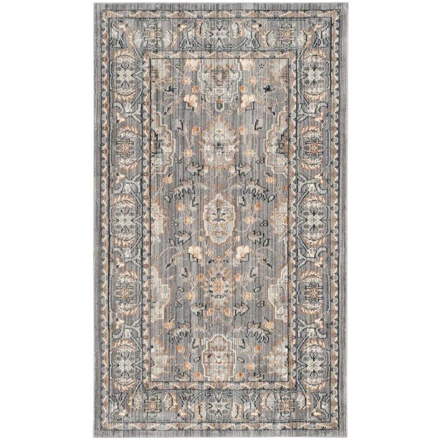 Safavieh Valencia Asher Mauve/Mauve Indoor Distressed Area Rug (Common: 4 x 6; Actual: 4-ft W x 6-ft L)