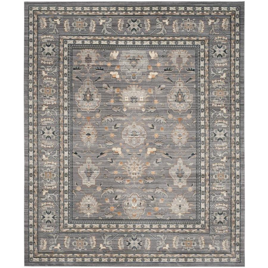 Safavieh Valencia Asher Mauve/Mauve Rectangular Indoor Machine-made Distressed Area Rug (Common: 8 x 10; Actual: 8-ft W x 10-ft L)