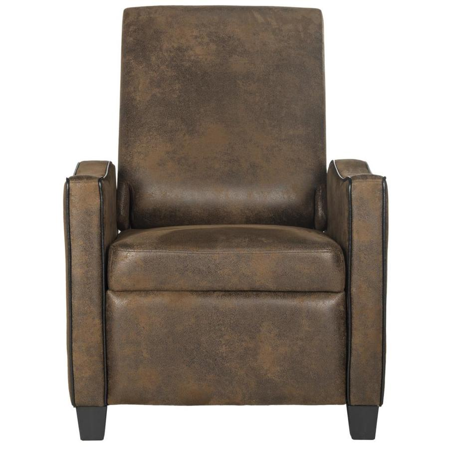 Safavieh Holden Casual Vintage Brown Faux Leather Accent Chair