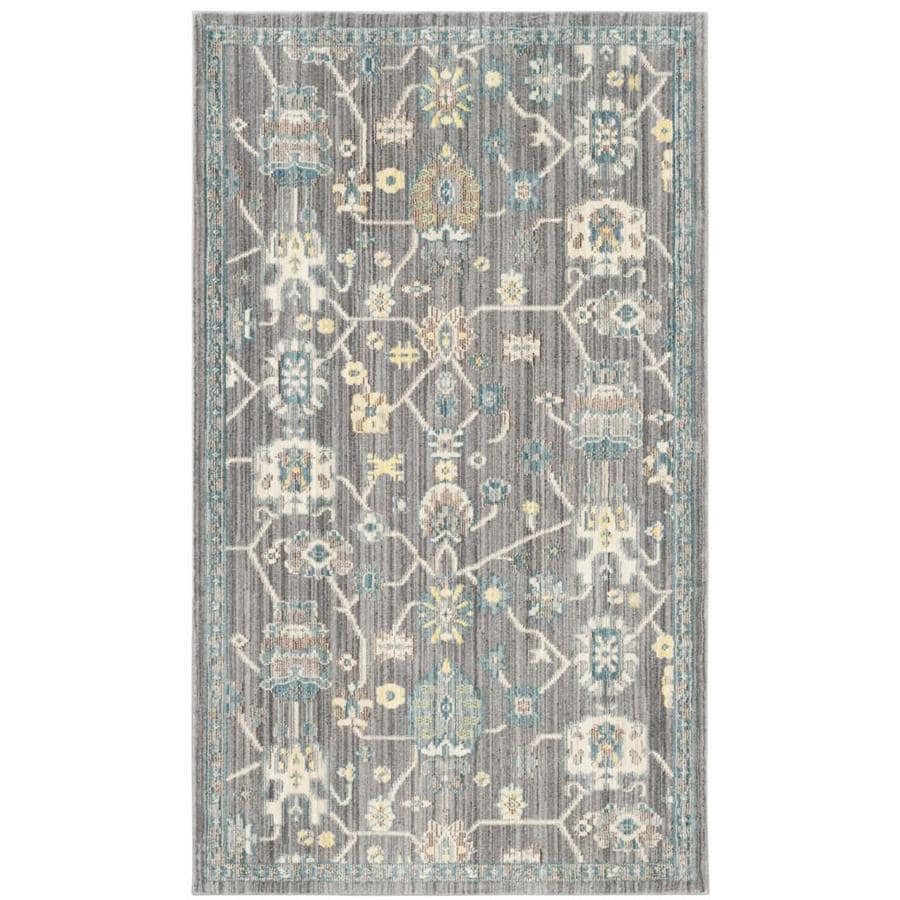 Safavieh Valencia Mauve/Mauve Rectangular Indoor Machine-Made Distressed Area Rug (Common: 4 x 6; Actual: 4-ft W x 6-ft L)