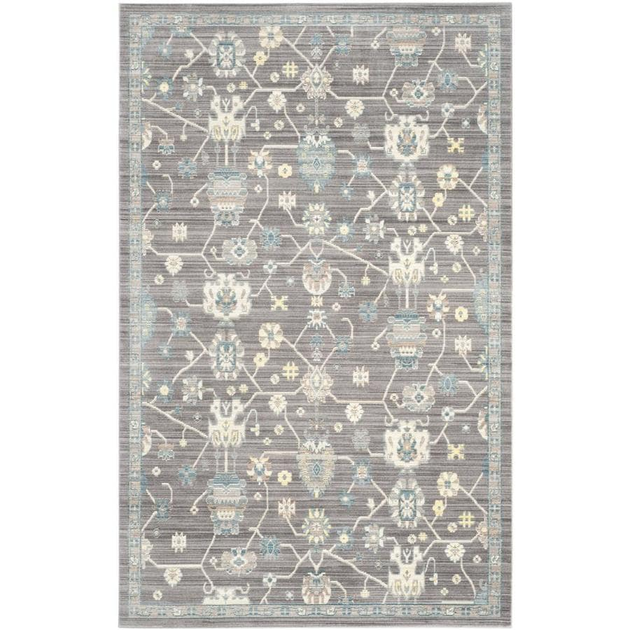 Safavieh Valencia Hollis Mauve/Mauve Rectangular Indoor Machine-made Distressed Area Rug (Common: 5 x 8; Actual: 5-ft W x 8-ft L)