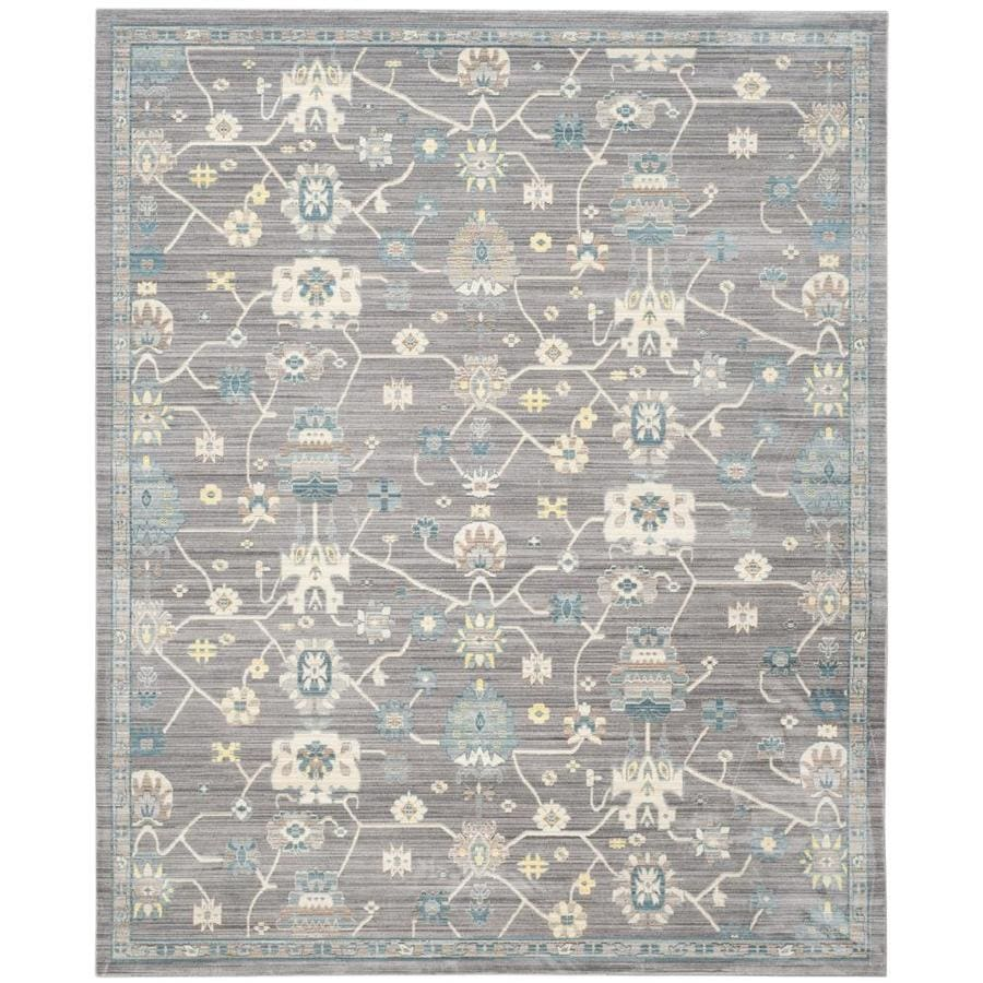 Safavieh Valencia Mauve/Mauve Rectangular Indoor Machine-Made Distressed Area Rug (Common: 8 x 10; Actual: 8-ft W x 10-ft L)