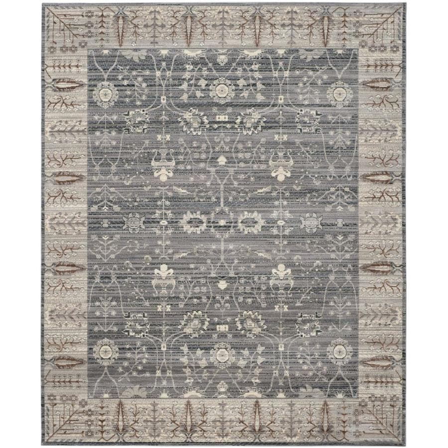 Safavieh Valencia Dawn Dark Gray/Light Gray Rectangular Indoor Machine-made Distressed Area Rug (Common: 8 x 10; Actual: 8-ft W x 10-ft L)