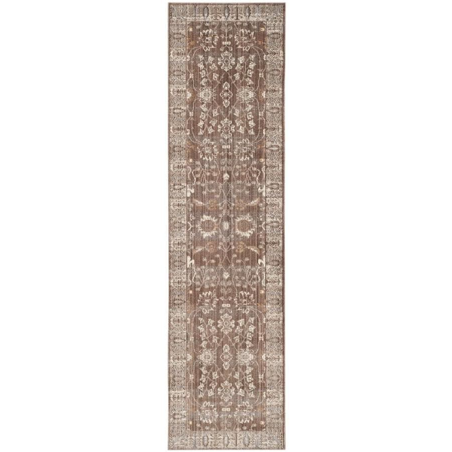 Safavieh Valencia Dawn Brown/Beige Rectangular Indoor Machine-made Distressed Runner (Common: 2 x 8; Actual: 2.25-ft W x 8-ft)