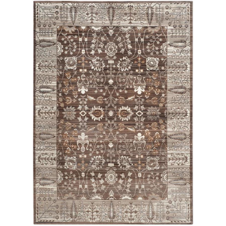Safavieh Valencia Dawn Brown/Beige Indoor Distressed Area Rug (Common: 9 x 12; Actual: 9-ft W x 12-ft L)