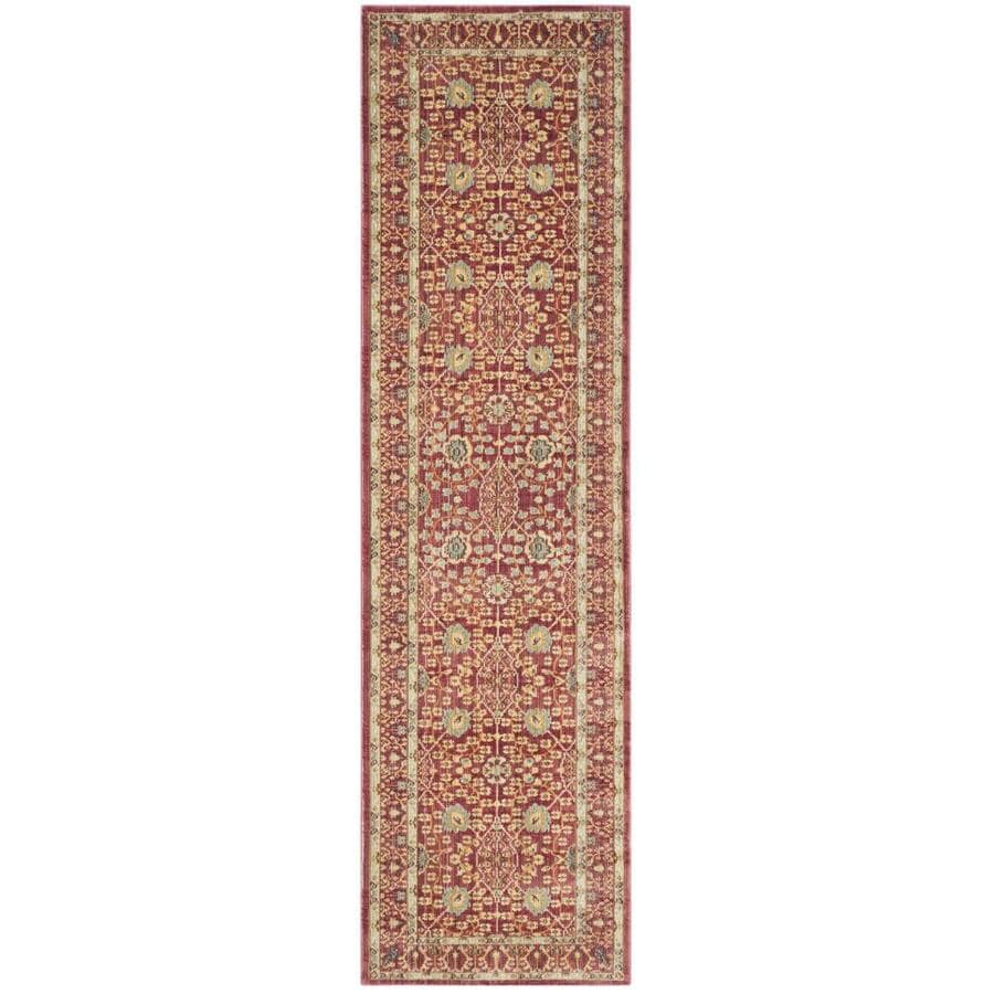 Safavieh Valencia Red/Red Rectangular Indoor Machine-Made Distressed Runner (Common: 2 x 8; Actual: 2.25-ft W x 8-ft L)
