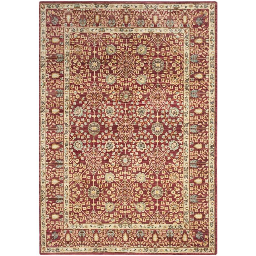 Safavieh Valencia Red/Red Rectangular Indoor Machine-Made Distressed Area Rug (Common: 5 x 7; Actual: 5-ft W x 8-ft L)