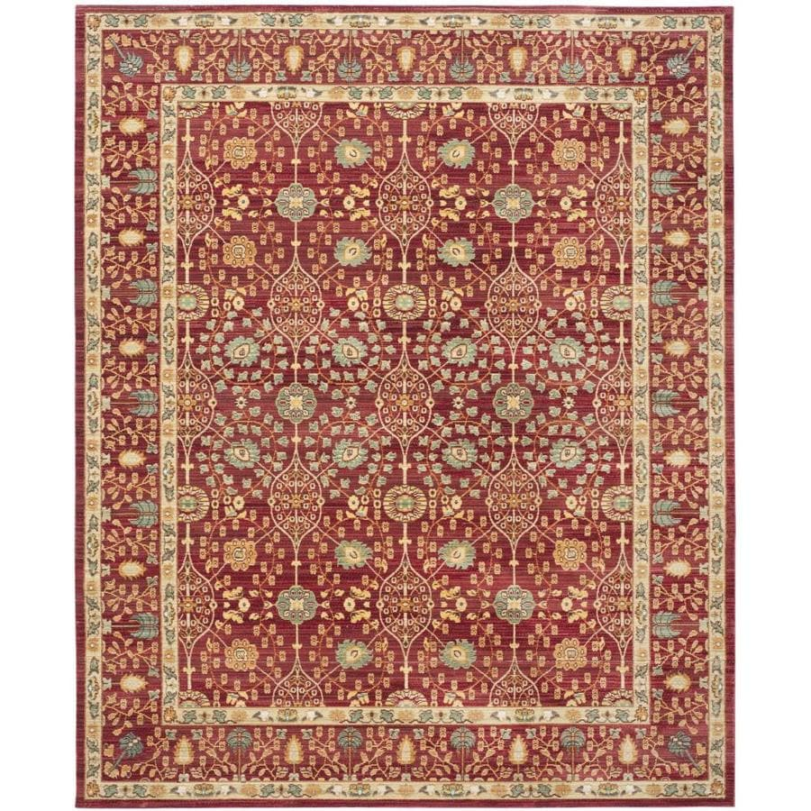 Safavieh Valencia Jayden Red/Red Rectangular Indoor Machine-made Distressed Area Rug (Common: 8 x 10; Actual: 8-ft W x 10-ft L)