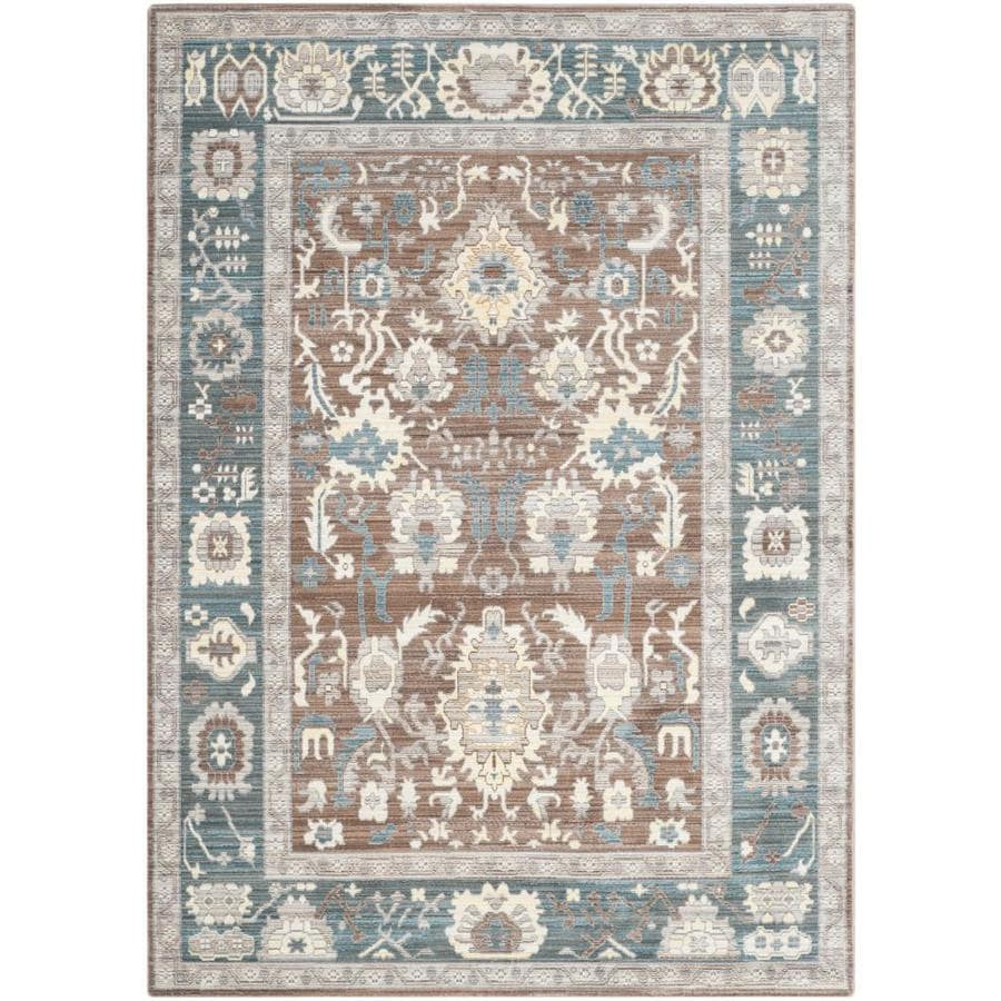 Safavieh Valencia Valere Chocolate/Alpine Rectangular Indoor Machine-Made Distressed Area Rug (Common: 5 x 8; Actual: 5-ft W x 8-ft L)