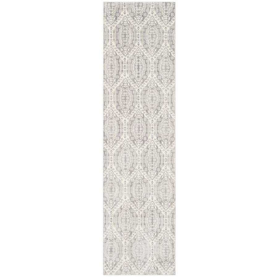 Safavieh Valencia Maxine Mauve/Cream Rectangular Indoor Machine-made Distressed Runner (Common: 2 x 8; Actual: 2.25-ft W x 8-ft L)