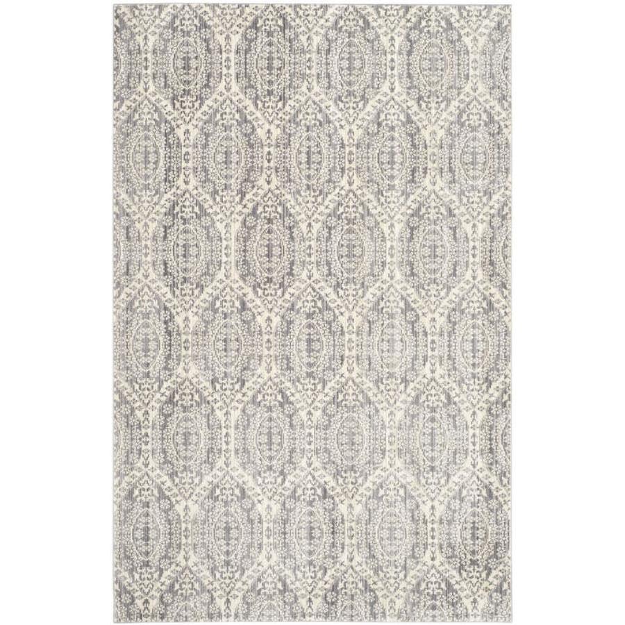 Safavieh Valencia Mauve/Cream Rectangular Indoor Machine-Made Area Rug (Common: 4 x 6; Actual: W x L x 0-ft Dia)