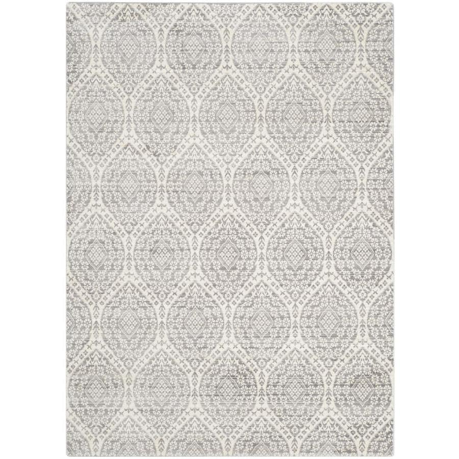 Safavieh Valencia Mauve/Cream Rectangular Indoor Machine-Made Distressed Area Rug (Common: 5 x 7; Actual: 5-ft W x 8-ft L)