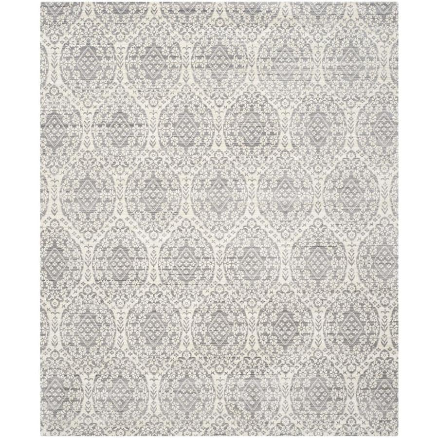 Safavieh Valencia Maxine Mauve/Cream Rectangular Indoor Machine-made Distressed Area Rug (Common: 8 x 10; Actual: 8-ft W x 10-ft L)