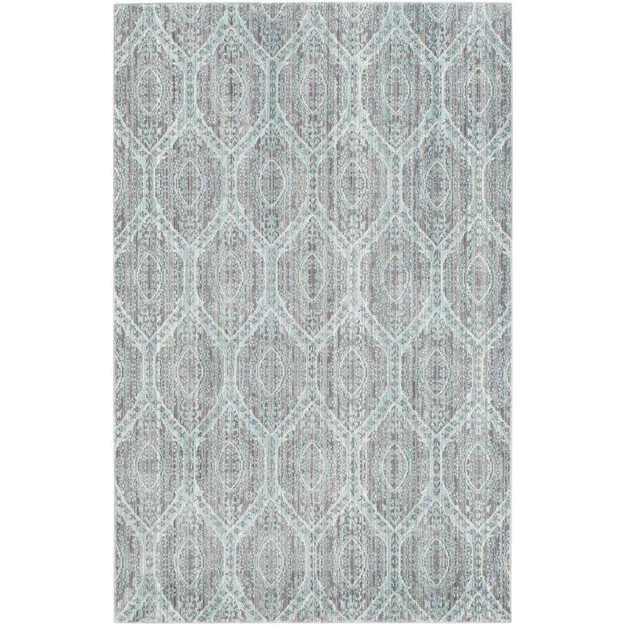 Safavieh Valencia Mauve/Alpine Rectangular Indoor Machine-Made Distressed Area Rug (Common: 4 x 6; Actual: 4-ft W x 6-ft L)