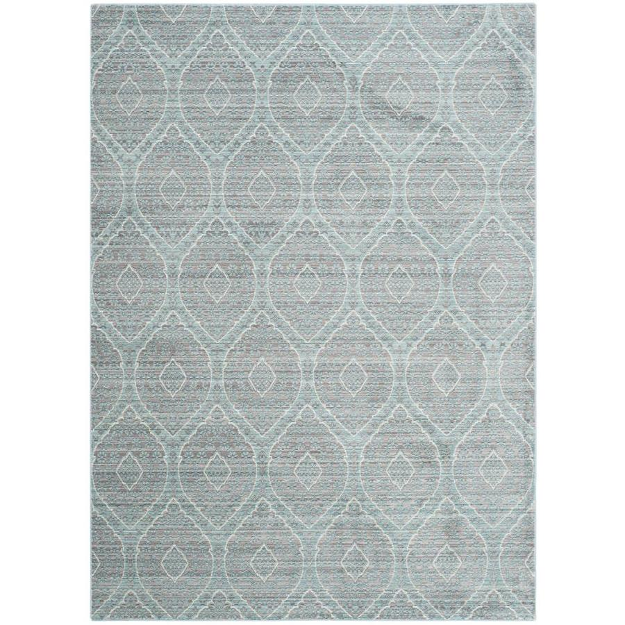Safavieh Valencia Maxine Mauve/Alpine Rectangular Indoor Machine-made Distressed Area Rug (Common: 5 x 8; Actual: 5-ft W x 8-ft L)