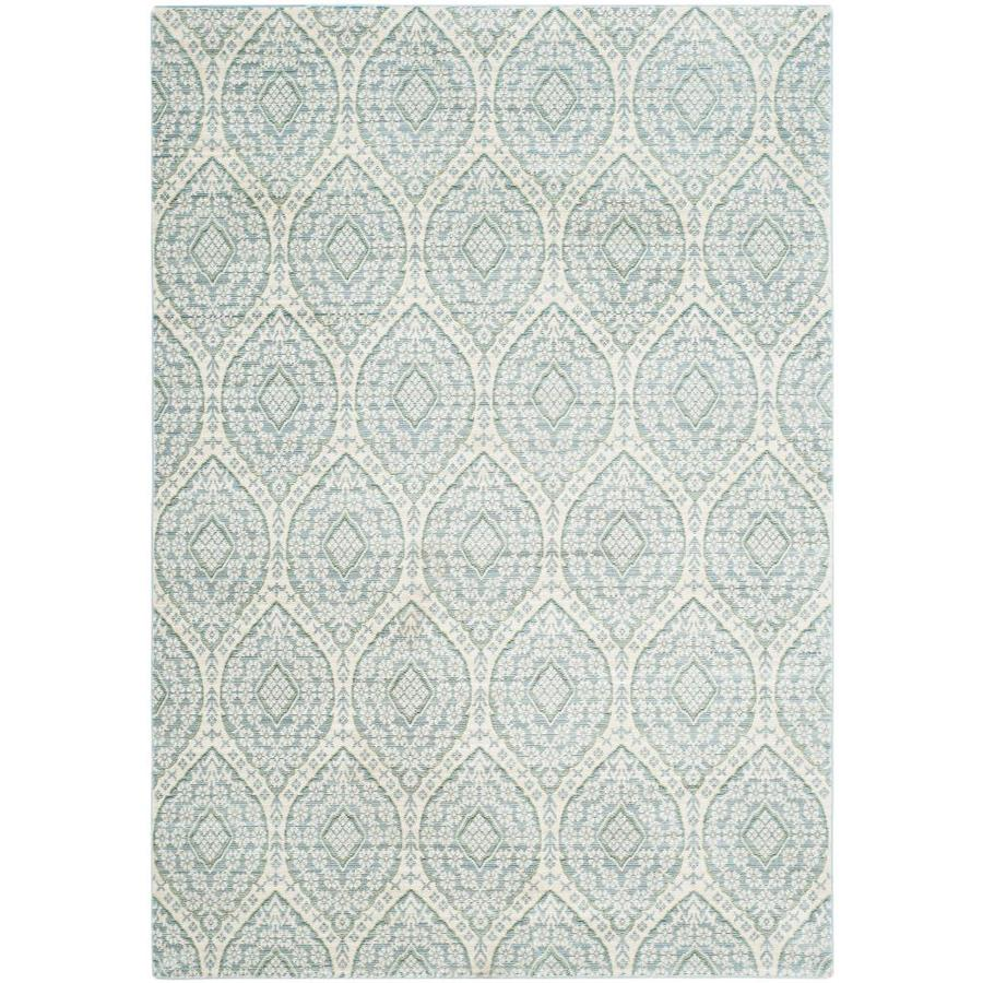 Safavieh Valencia Maxine Alpine/Cream Indoor Distressed Area Rug (Common: 5 x 8; Actual: 5-ft W x 8-ft L)