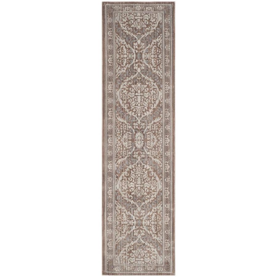Safavieh Valencia Gray/Brown Rectangular Indoor Machine-Made Distressed Runner (Common: 2 x 8; Actual: 2.25-ft W x 8-ft L)