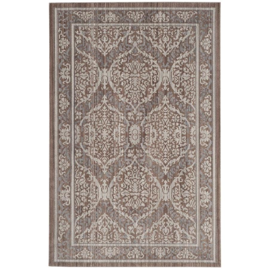 Safavieh Valencia Adena Gray/Brown Rectangular Indoor Machine-made Distressed Area Rug (Common: 4 x 6; Actual: 4-ft W x 6-ft L)