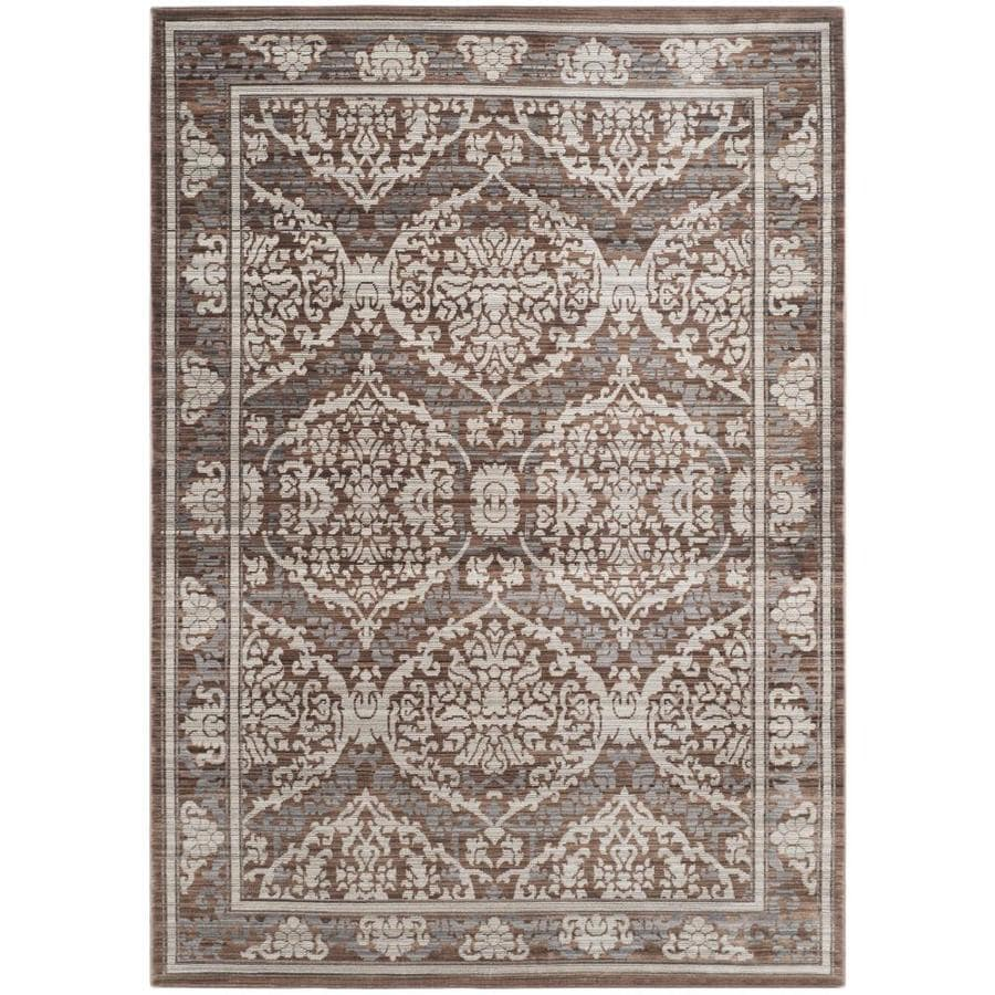Safavieh Valencia Gray/Brown Rectangular Indoor Machine-Made Distressed Area Rug (Common: 5 x 8; Actual: 5-ft W x 8-ft L)