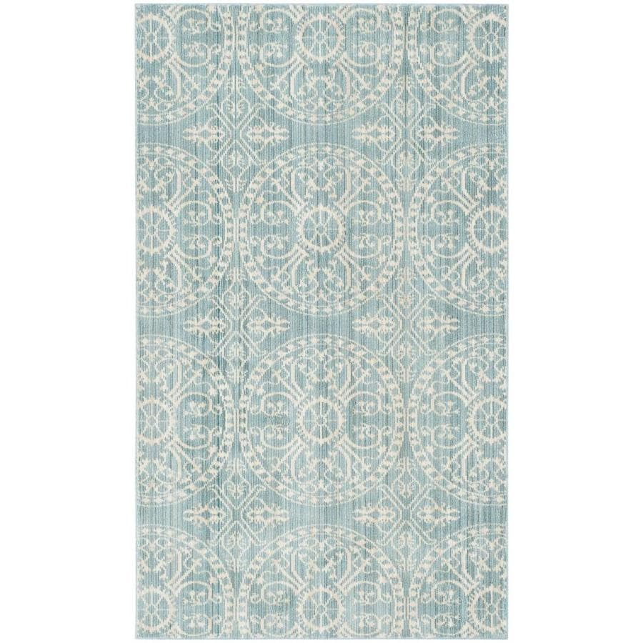Safavieh Valencia Coby Alpine/Cream Rectangular Indoor Machine-made Distressed Area Rug (Common: 4 x 6; Actual: 4-ft W x 6-ft L)