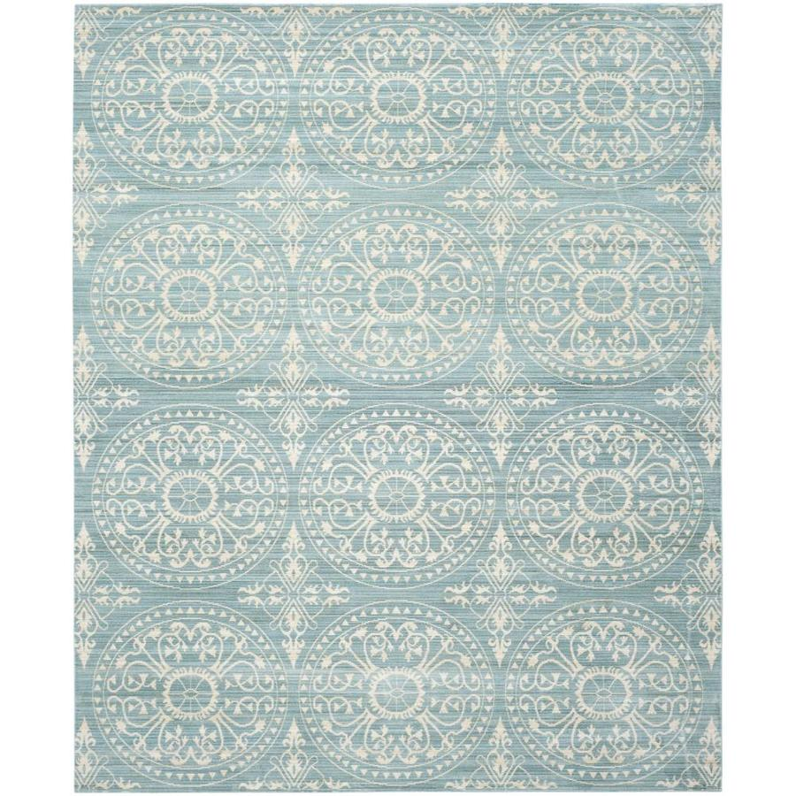 Safavieh Valencia Coby Alpine/Cream Rectangular Indoor Machine-made Distressed Area Rug (Common: 8 x 10; Actual: 8-ft W x 10-ft L)