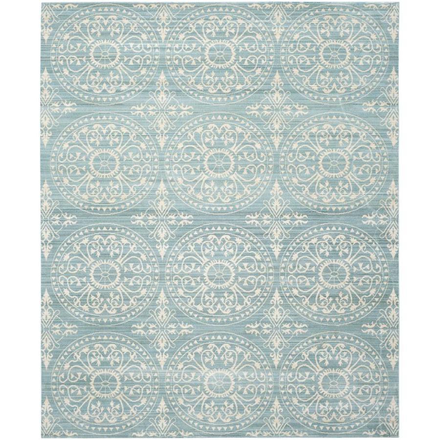 Safavieh Valencia Coby Alpine/Cream Indoor Distressed Area Rug (Common: 8 x 10; Actual: 8-ft W x 10-ft L)