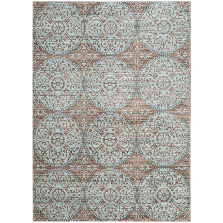 Safavieh Valencia Brown/Alpine Rectangular Indoor Machine-Made Distressed Area Rug (Common: 5 x 8; Actual: 5-ft W x 8-ft L)