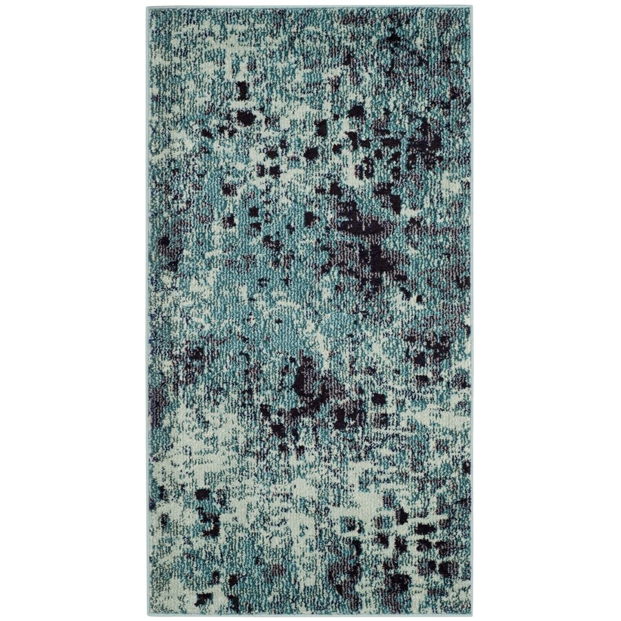 Safavieh Monaco Gogh Teal Indoor Throw Rug (Common: 2 x 4; Actual: 2.2-ft W x 4-ft L)