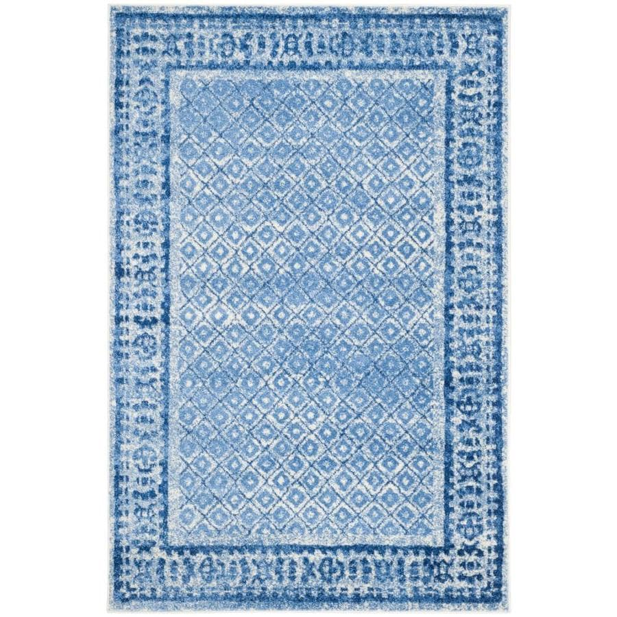 Safavieh Adirondack Tabriz Silver/Blue Rectangular Indoor Machine-made Lodge Area Rug (Common: 6 x 9; Actual: 6-ft W x 9-ft L)