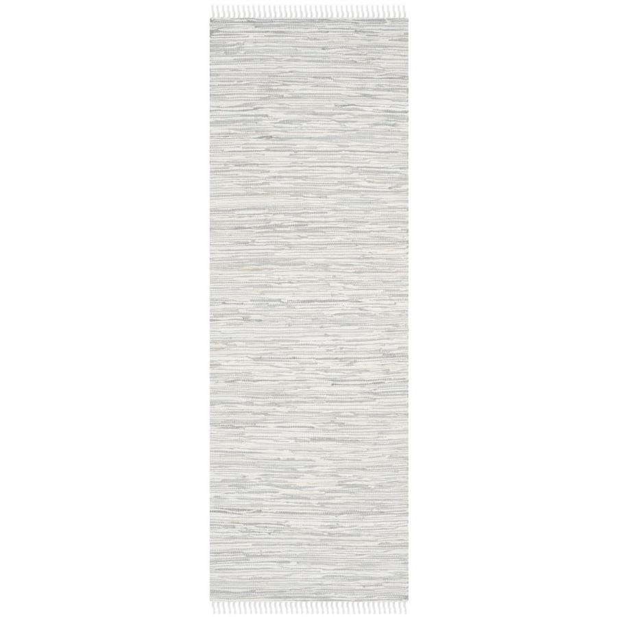 Safavieh Montauk Caspar Silver Indoor Handcrafted Coastal Runner (Common: 2 x 12; Actual: 2.3-ft W x 11.6-ft L)