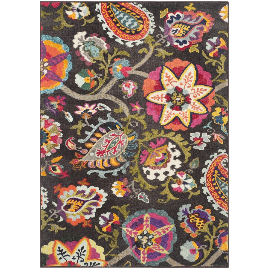 Safavieh Monaco Brown/Multi Rectangular Indoor Machine-Made Throw Rug (Common: 3 x 5; Actual: W x L x 0-ft Dia)