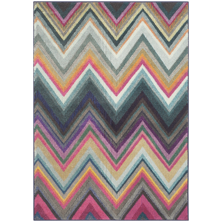 Safavieh Monaco Multi Rectangular Indoor Machine-Made Throw Rug (Common: 3 x 5; Actual: W x L x 0-ft Dia)