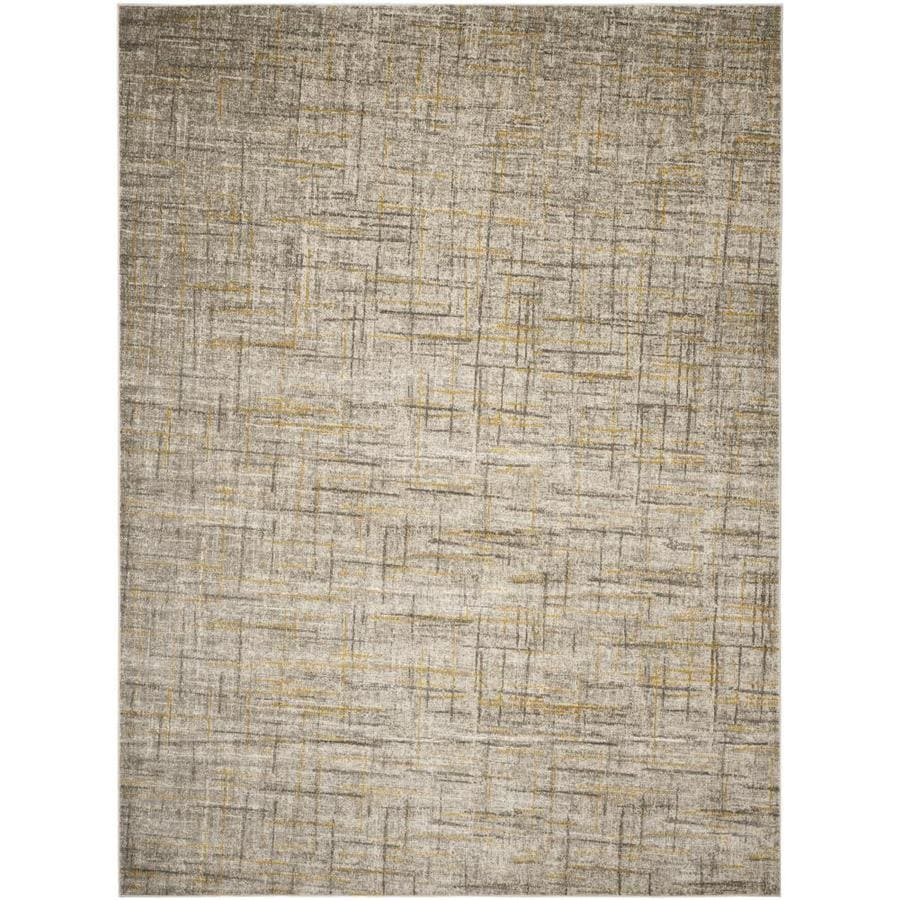 Safavieh Porcello Olivya Gray/Dark Gray Rectangular Indoor Machine-made Distressed Area Rug (Common: 9 x 12; Actual: 9-ft W x 12-ft L)