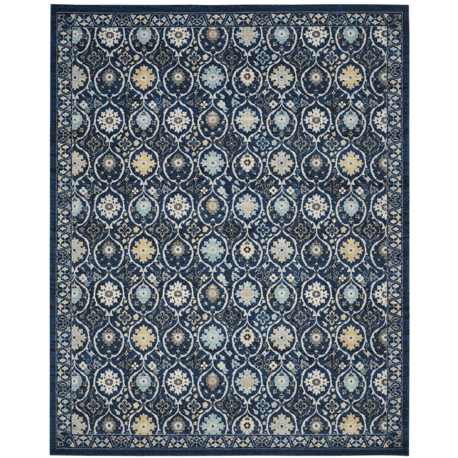 Safavieh Evoke Baxter Royal Blue/Ivory Indoor Oriental Area Rug (Common: 7 x 9; Actual: 6.7-ft W x 9-ft L)