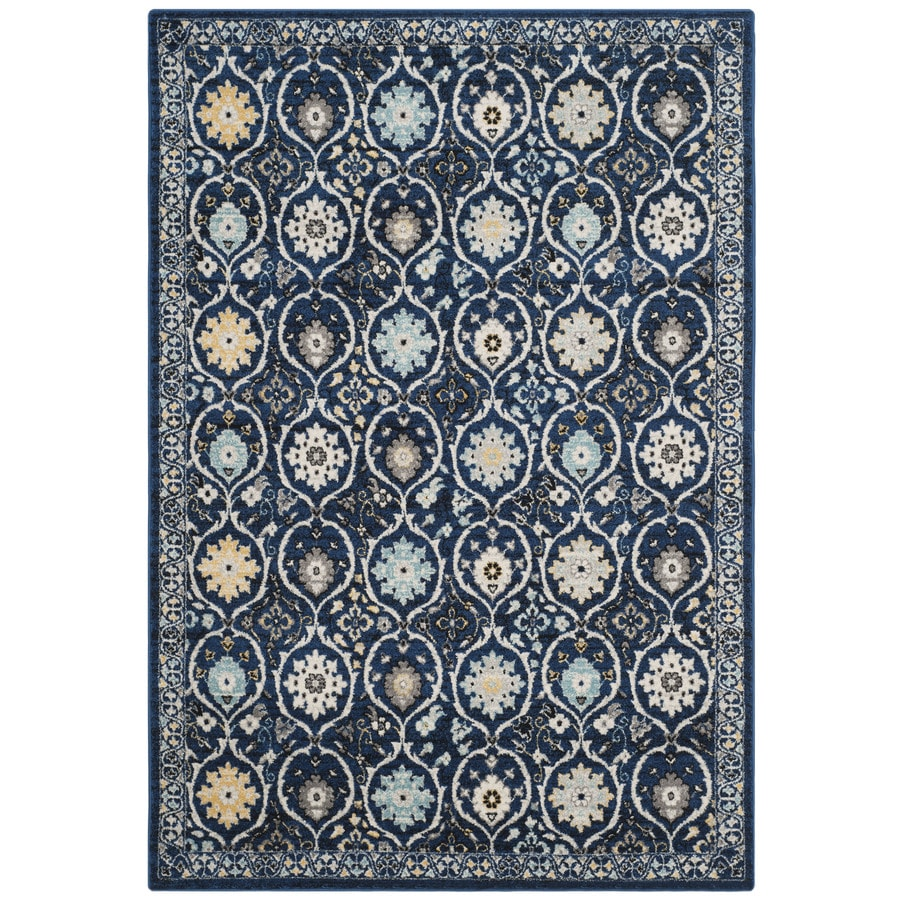 Safavieh Evoke Baxter Royal Blue/Ivory Rectangular Indoor Machine-Made Oriental Area Rug (Common: 4 x 6; Actual: 4-ft W x 6-ft L)
