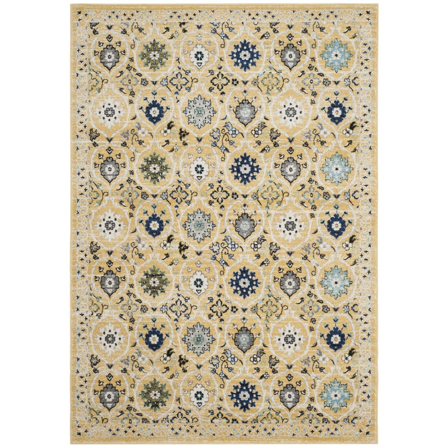 Safavieh Evoke Baxter Gold/Ivory Rectangular Indoor Machine-Made Oriental Area Rug (Common: 5 x 7; Actual: 5.1-ft W x 7.5-ft L)