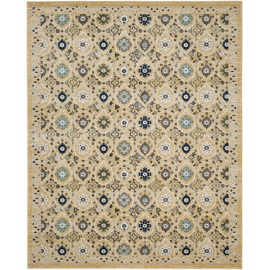 Safavieh Evoke Baxter Gold/Ivory Rectangular Indoor Machine-Made Oriental Area Rug (Common: 8 x 10; Actual: 8-ft W x 10-ft L)