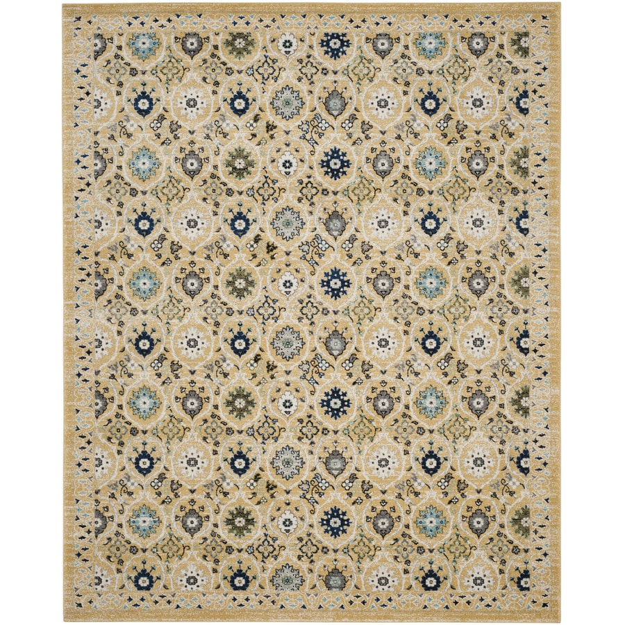 Safavieh Evoke Baxter Gold/Ivory Rectangular Indoor Machine-Made Oriental Area Rug (Common: 9 x 12; Actual: 9-ft W x 12-ft L)